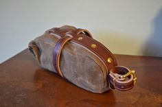 Under Saddle Wedge Bag (bicycle) in Waxed Brush Brown by RuthWorks Bags in SF