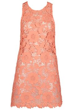 Tangerine Guipure Cover Up by Topshop