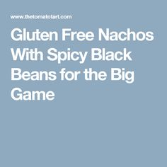 Gluten Free Nachos With Spicy Black Beans for the Big Game