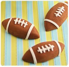 PREPARATION  Football truffles are made using our classic truffle recipe, rolled in DOVE CHOCOLATE DISCOVERIES™ Cocoa Powder and decorated with marzipan. Store bought frosting works equally well. You'll score a touchdown when you offer these treats to the football fans in your house!