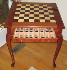 I enjoy making chess tables, and I think this one turned out pretty good. The… #WoodworkingProjectsChessboard