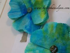 Coffee Filter Flowers - Under the Table and Dreaming