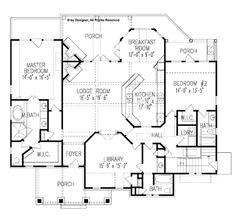 Craftsman Floor Plan - Main Floor Plan Plan #54-275