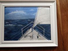 Ocean passage #7 oil Seaside Theme, Nautical, Ocean, Paintings, Oil, Navy Marine, Painting, The Ocean, Draw