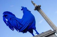 The big blue cock at Trafalgar square Trafalgar Square, Set Sail, Great Britain, Sailing, Photographs, Tours, World, Big, Places