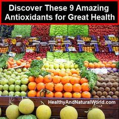 health benefits of antioxidants