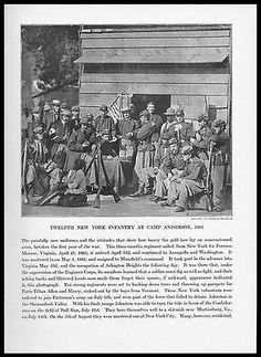 Twelfth New York Infantry Camp Anderson 1861 Union Army Civil War Print