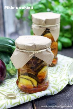Pickles with zucchini