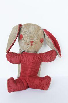 hand sewn raggedy bunny rabbit