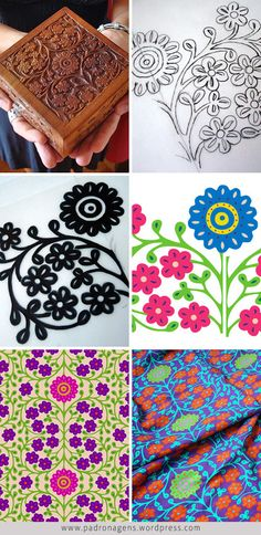 Creative process of Flora pattern | Wagner Campelo