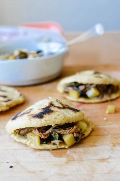 This delicious, gluten-free, dairy-free recipe for sweet potato and bacon gorditas can be stuffed with anything from braised beef to scrambled eggs! Flavored with roasted, mashed sweet potato and bits of crisp bacon, these are the most divine gorditas ever. Step-by-step instructions included! #gorditas #gorditarecipe #mexicanrecipe #mexicanfood
