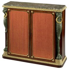 Regency Side Cabinet in the Manner of George Smith, 4412801 | From a unique collection of antique and modern cabinets at https://www.1stdibs.com/furniture/storage-case-pieces/cabinets/