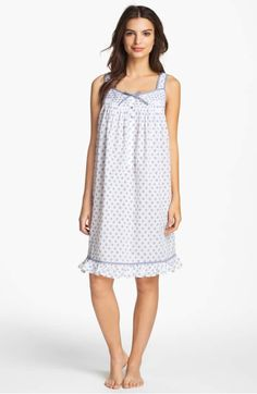 Eileen West 'Starfish Cove' Short Nightgown available at Night Gown Dress, Nightwear, Pajama Set, Pretty Dresses, Trendy Outfits, Designer Dresses, Fashion Beauty, Fashion Dresses, Cold Shoulder Dress