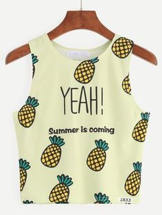 ImageFind images and videos about summer, outfits and shirt on We Heart It - the app to get lost in what you love. Girls Fashion Clothes, Tween Fashion, Teen Fashion Outfits, Mode Outfits, Cute Girl Outfits, Cute Casual Outfits, Stylish Outfits, Summer Outfits, Pineapple Clothes