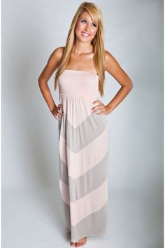 Out By The Sea Maxi Dress Light Pink Taupe - Dresses