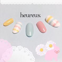 Japanese Nail Design, Japanese Nails, Love Nails, Pretty Nails, My Nails, Beauty Hacks Nails, Nail Art Hacks, Design Set, Manicure Y Pedicure