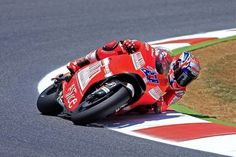 Casey Stoner ( the only guy who could ride that bike......! )