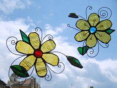 3D Stained glass suncatcher  Flower by SaintGlass on Etsy, $23.00