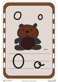 abecedario en color o Teaching The Alphabet, Activities For Kids, Preschool, Letters, Education, Logos, Victor Hugo, Yuri, Molde