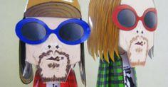 Kurt Cobain en papertoy de Mayainpaper