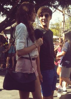 The beautiful Eleanor Calder and wonderful Louis Tomlinson in California for a trip to Disneyland.
