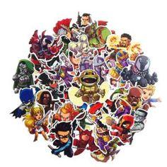 Cartoon Marvel Super Hero Stickers For Laptop Moto Skateboard Luggage Toys Cartoon Stickers, Diy Stickers, Laptop Stickers, Vinyl Art, Vinyl Decals, Spiderman Backpack, Superhero Stories, Graffiti Cartoons, Marvel And Dc Characters