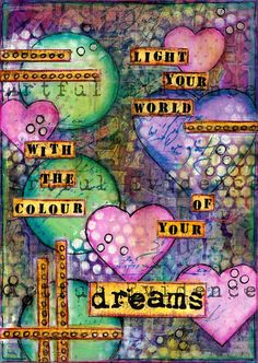 Mixed Media Art Print - Colour Of Your Dreams. $23.50, via Etsy. I would love this in my office.