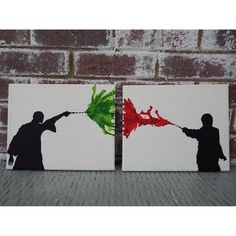 Harry Potter Canvas Art Set Harry Voldemort Duel Crayon Art Set of two 810 Canvas Home Wall Decor