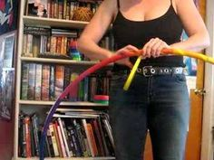 How to tape a rainbow hula hoop.  Hoop Taping techniques.