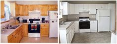 One Day At A Time: Rent House Kitchen Before & After