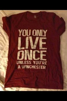 Awesome t shirt .. I gots to get it #SPN #supernatural #winchesters