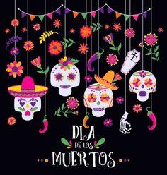 Mexican Day of The Dead Backdrops Sugar Skull Photography Background Dia de la Muertos Backdrops<br> Day Of The Dead Diy, Day Of The Dead Artwork, Day Of The Dead Party, Mexican Flowers, Holiday Icon, Halloween Wallpaper, Sugar Skull Art, Banner, Backdrops For Parties