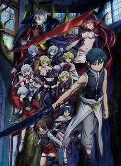 Trinity Seven: Heaven's Library and Crimson Road Anime Movie Visual