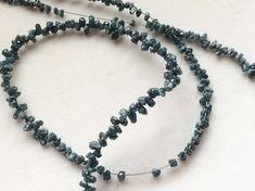 Blue Rough Diamond Drops Blue Raw Diamond Beads by gemsforjewels