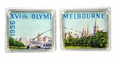 Melbourne Olympics 1956 silver plate and re-purposed stamp cufflinks Southern Cross Tattoos, 1956 Olympics, Shell House, Designer Cufflinks, Australia Day, Olympic Games, Kitsch, Melbourne, Aussies