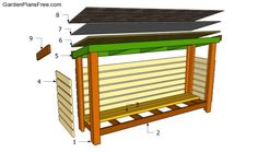 Building a firewood shed