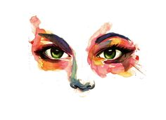 Eyes of nature in watercolor by IRSart on DeviantArt