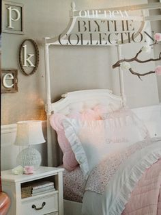 Initials on wall for her big girl room
