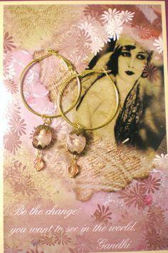 40 OFF  PINK DREAM  Handmade Earrings Pierced 1 of a Kind by NatureAngels, $10.00