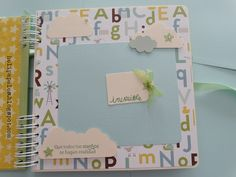 Heli Papeles ♥ Baby Scrapbook, Scrapbook Albums, Scrapbooking, Ideas, Home, Signature Book, Mini Albums, Christening, Cover Pages