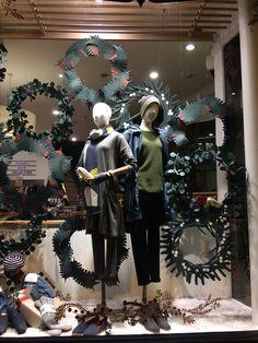 Christmas window display at Seasalt