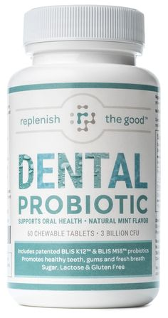 Dental Probiotic 60-Day Supply, 3 Billion CFU. Reduces bad breath, tooth decay, strep throat. Promotes upper respiratory health, oral health, boosts immune system, combats infections and halitosis