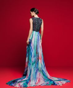LVS 363 Tie Dye Skirt, Evening Gowns, Bridal Gowns, Couture, Formal Dresses, Skirts, Collection, Fashion, Evening Dresses