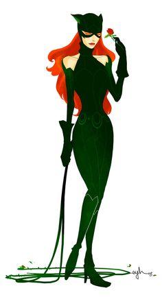 Villainy Mix: POISONCAT (Poison Ivy & Catwoman) by Gingashi