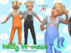 Sims 4 CC's - The Best: Willy W-onesie BODY by Solistair