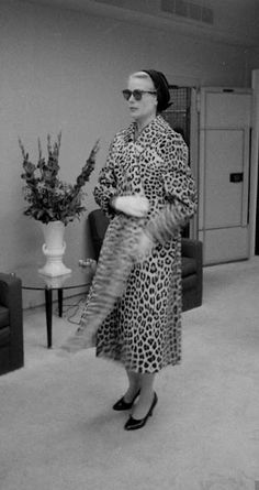 Grace Kelly in a fabulous leopard print coat.