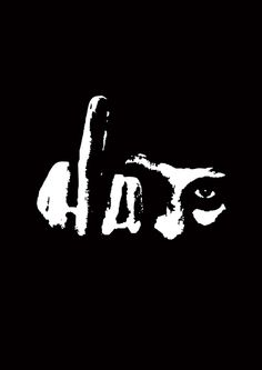 Can you see the type AND the image?? / via Typeverything.com, HATEby Beto Janz.