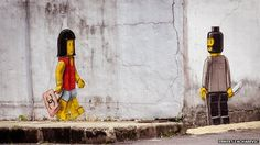 A arte de rua interativa de Ernest Zacharevic | Marte é para os Fracos