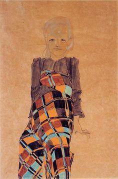egonschiele-art: Seated Girl, 1910 Egon Schiele