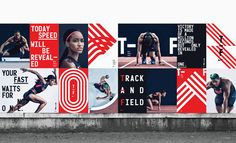 Nike Unveils New Branding Campaign for Its 2016 Track and Field Line - Graphic Design - Sport Ill Studio, Studio Build, Nike Campaign, Brand Campaign, Environmental Graphics, Environmental Design, Visual Identity, Brand Identity, Identity Design